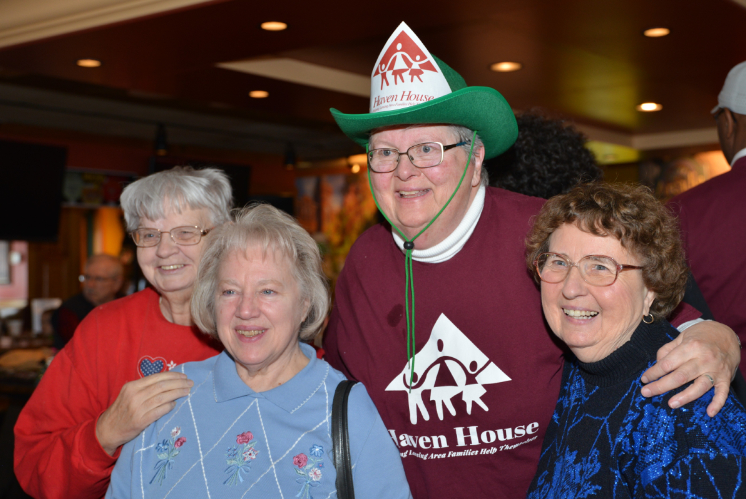 Sr Pat Newhouse at a fundraiser for a homeless shelter for families
